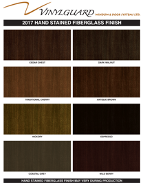 Vinyl Stain Finishes